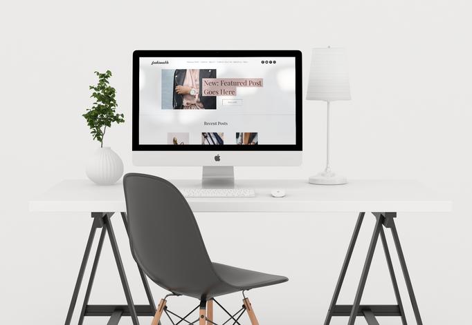 Fashionable Desktop_ wix template_ four eyes media