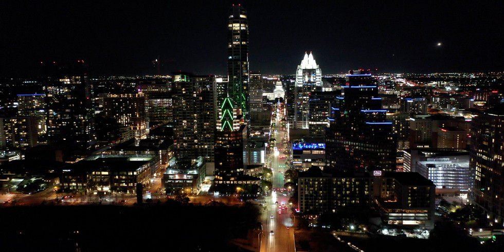 Austin. Texas Skyline at Night