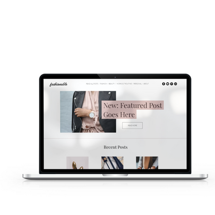 fashionable laptop_ wix template_ four eyes media