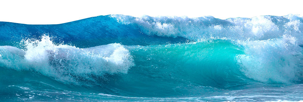 Beautiful sea waves with foam of blue an