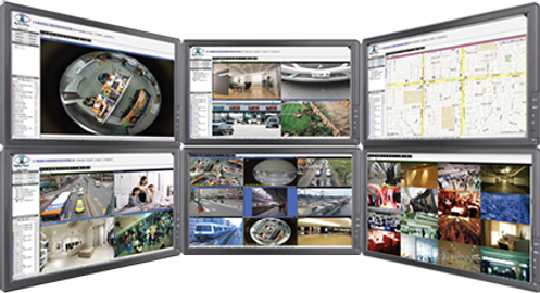 Multi-Monitor Video Surveillance System