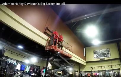 Adamec Harley Davidson - Video Wall Installtion