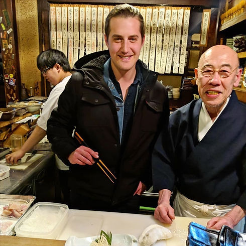 Sushi master lesson, Japan.