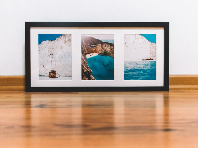 "50 x 23 cm or 19.75 x 9"" Long Black Frame"