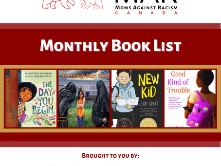 Moms Against Racism Canada Recommends: September 2020 Book List