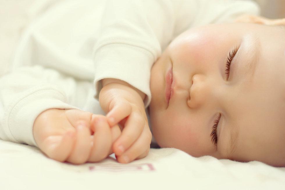 close-up portrait of a beautiful sleepin