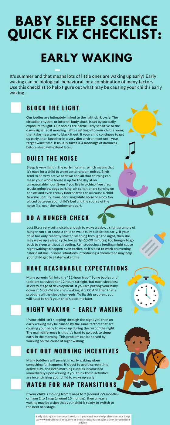 Quick Fix Checklist For Early Risers: Infographic
