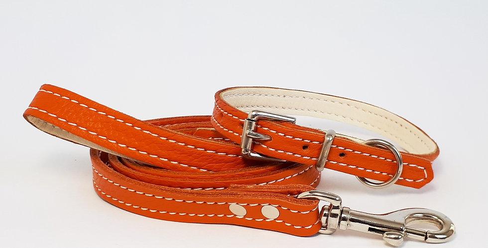 Soft Leather Set: Orange