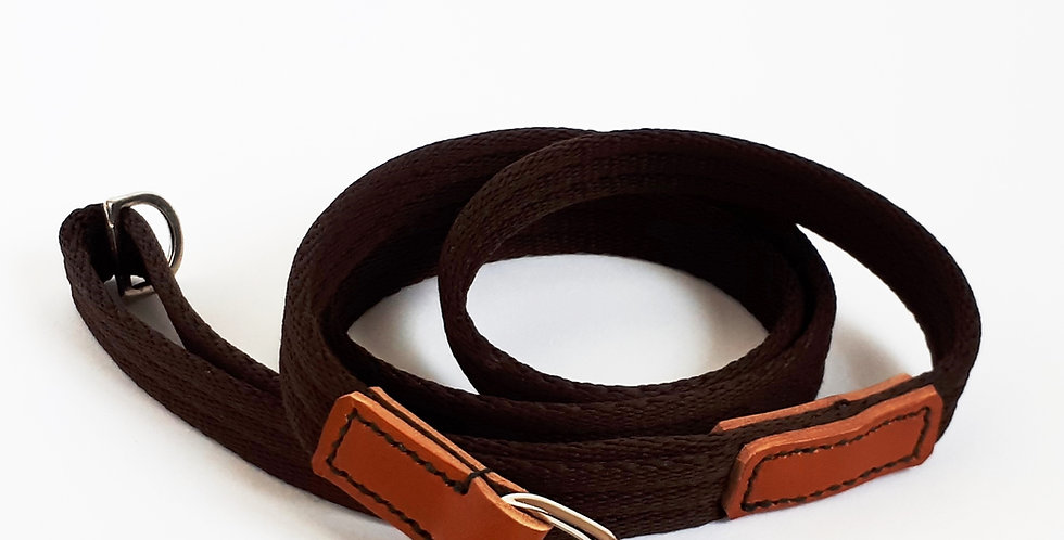Airweb & Leather Clip Leads: Country Classic