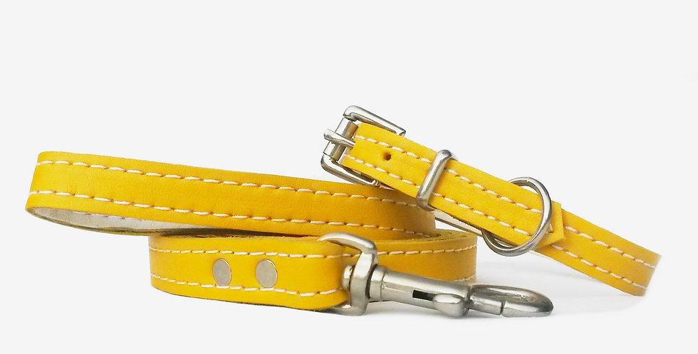 Soft Leather Set: Daffodil yellow