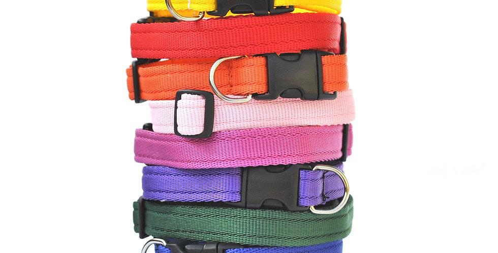 Cushion web adjustable clip collars