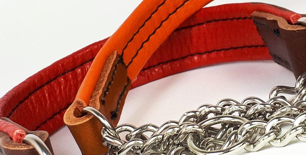 "Padded Leather Half Check Collars: ""Urban Vogue"""