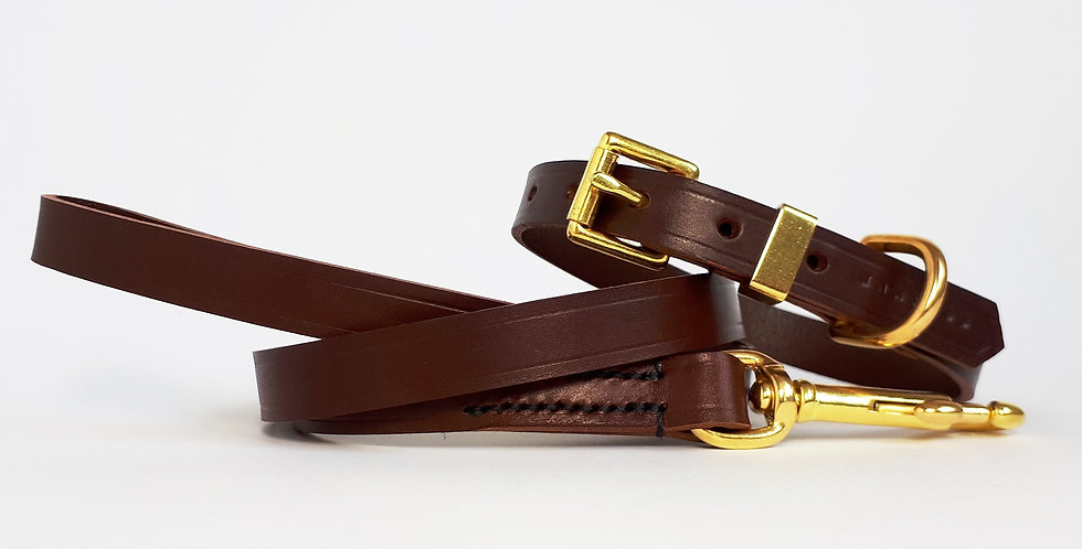 Classic Leather Set: Chestnut Brown