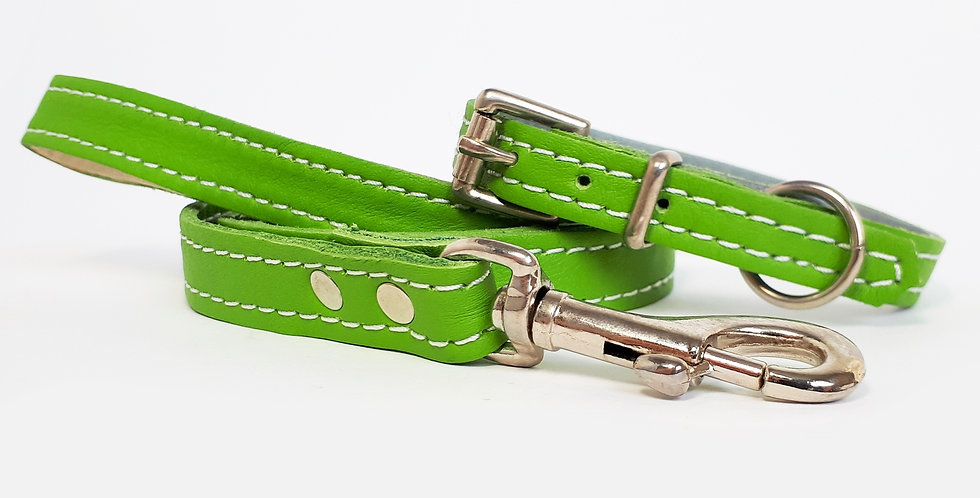 Soft Leather Set: Lime green