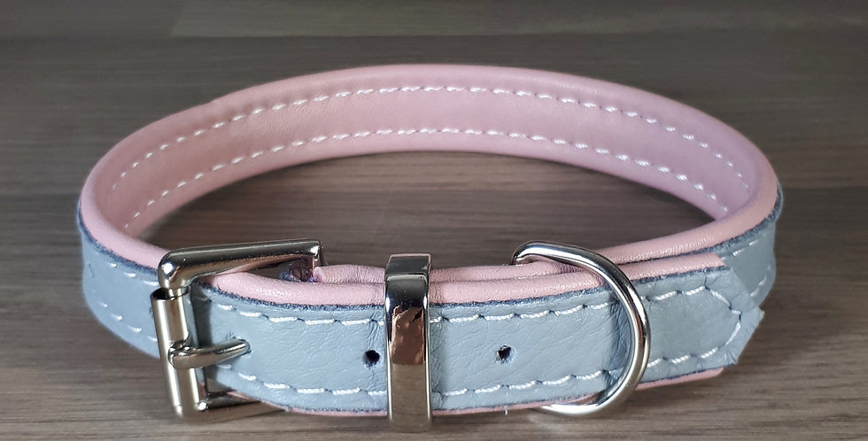 Double Softee Collar: Grey on Blossom 12/13 inch neck