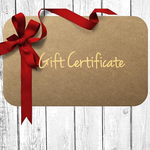 Gift Certificate (click link below)