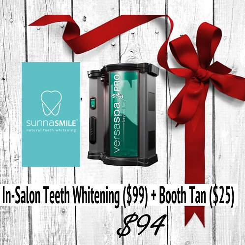 In-Salon Teeth Whitening + VersaSpa Pro Sunless Session