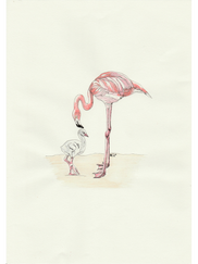 Mother and baby Flamingo £45