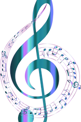 Turquoise-Musical-Notes-Typography-No-Ba