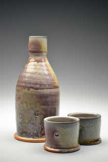 Rutile Copper Bottle Set ceramic art