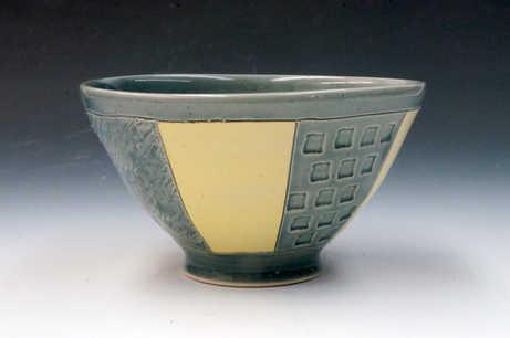 Porcelain Striped Bowl ceramic art