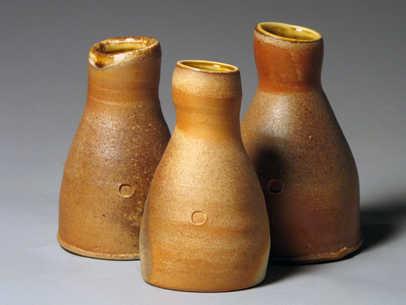 Woodfire Bottle Friends Ceramic