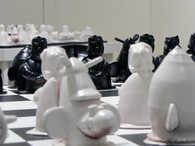 Face Off ceramic art