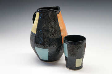 Porcelain Pitcher and Cup ceramic art
