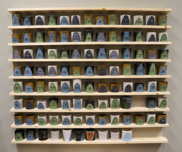 A Cup A Day Keeps The Haters Away ceramic art