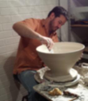 Artist Tony Wise Making Ceramic Bowls