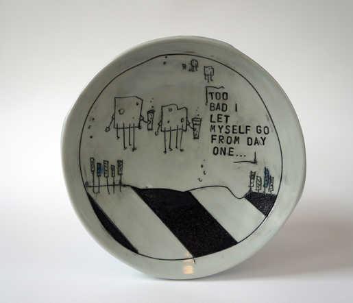 Porcelain Imagery Plate ceramic art