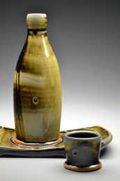 Tenmoku Bottle Set ceramic art