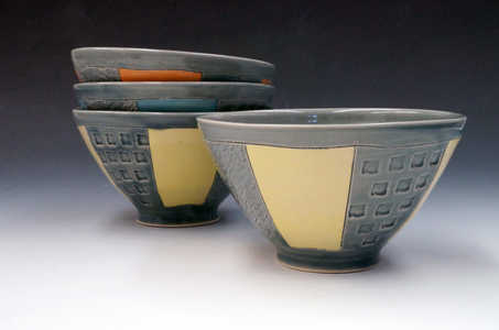 Porcelain Striped Bowls ceramic art