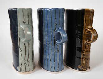 Porcelain Flower Baskets ceramic art