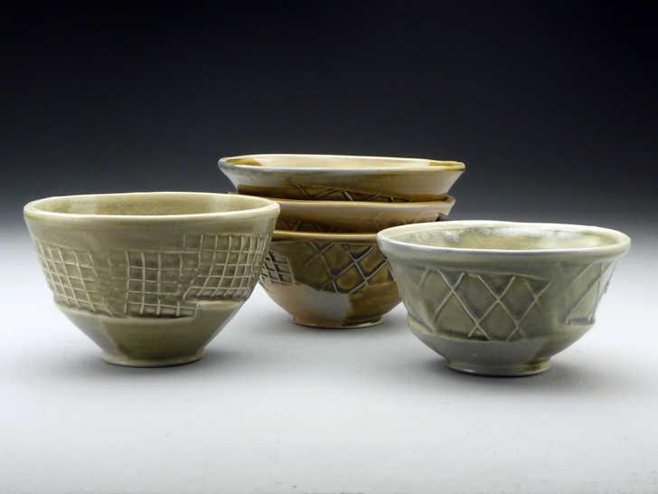 Paddled Bowls ceramic art