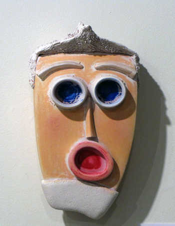 On My Shoulders ceramic art