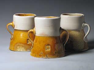 The Crew ceramic flower holders