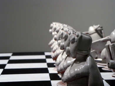 Row of Pawns ceramic art