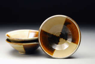 Yellow and Amber Bowls ceramic art