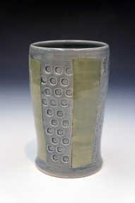 Porcelain Striped Cup ceramic art