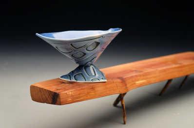 Blue Manhattan Cup ceramic art