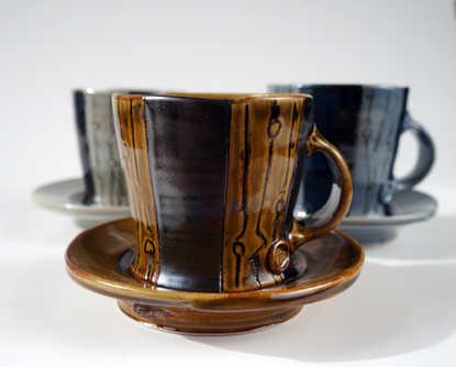 Porcelain Mug and Saucer Sets ceramic art