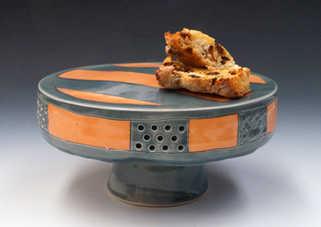 Porcelain Cake Pedestal ceramic art