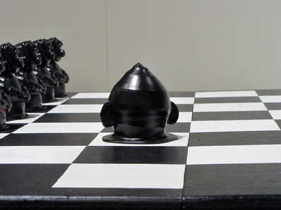 King Chess Piece ceramic art