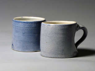 Running From Qing Hua ceramic mugs