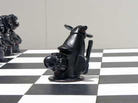 Bishop Chess Piece ceramic art