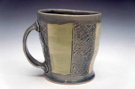 Porcelain Striped Mug ceramic art