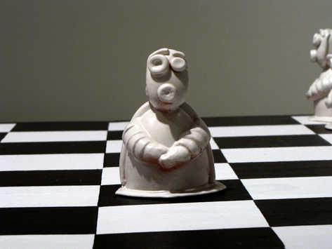 Pawn Chess Piece ceramic art