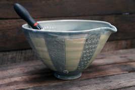 Large Porcelain Striped Bowl ceramic art