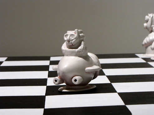 Knight Chess Piece ceramic art